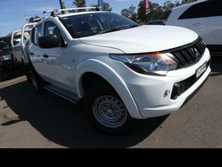 2016 Mitsubishi Triton MQ MY16 GLX (4x4) White 6 Speed Manual Dual Cab Utility.