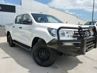 2018 Toyota Hilux GUN126R SR Double Cab Glacier White 6 Speed Sports Automatic Utility