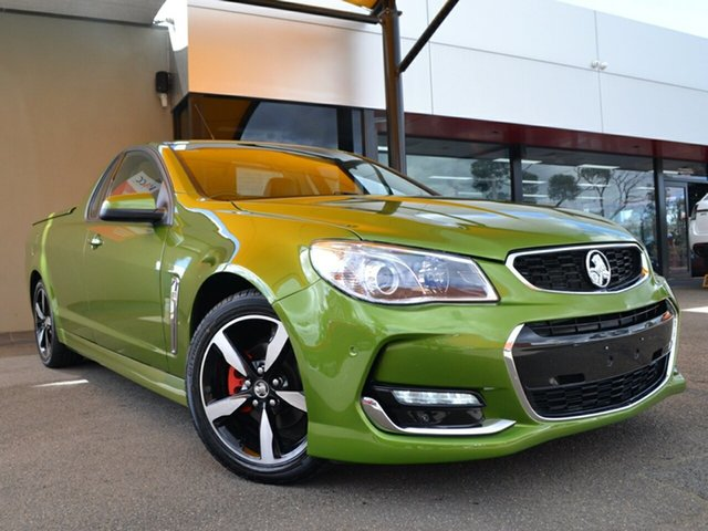 Used Holden Ute VF II MY16 SV6 Ute Fawkner, 2015 Holden Ute VF II MY16 SV6 Ute Green 6 Speed Manual Utility