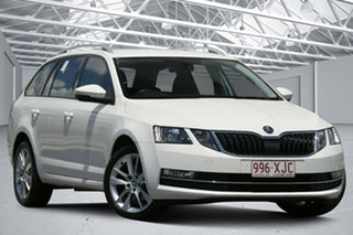2017 Skoda Octavia NE MY18 110 TSI White 7 Speed Auto Direct Shift Wagon.