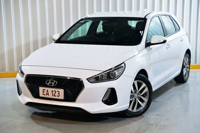 Used Hyundai i30 PD MY18 Active Hendra, 2018 Hyundai i30 PD MY18 Active White 6 Speed Sports Automatic Hatchback
