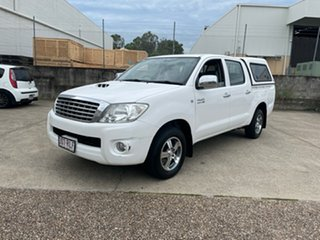 2011 Toyota Hilux KUN16R MY12 SR White 5 Speed Manual Dual Cab Pick-up