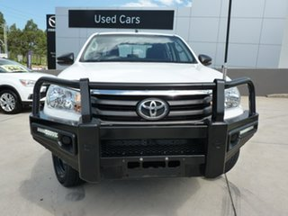 2018 Toyota Hilux GUN126R SR Double Cab Glacier White 6 Speed Sports Automatic Utility.