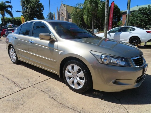 Used Honda Accord 50 VTi Luxury Toowoomba, 2010 Honda Accord 50 VTi Luxury Beige 5 Speed Automatic Sedan
