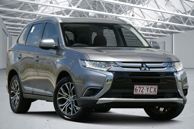 Used Mitsubishi Outlander ZL MY18.5 ES ADAS 5 Seat (AWD) Eagle Farm, 2018 Mitsubishi Outlander ZL MY18.5 ES ADAS 5 Seat (AWD) Grey Continuous Variable Wagon
