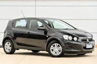 2012 Holden Barina TM MY13 CD Black 6 Speed Automatic Hatchback.