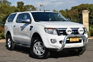 2015 Ford Ranger PX XLT Double Cab White 6 Speed Manual Utility.