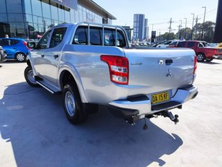 2017 Mitsubishi Triton MQ MY17 GLX Double Cab Silver, Chrome 6 Speed Manual Utility.