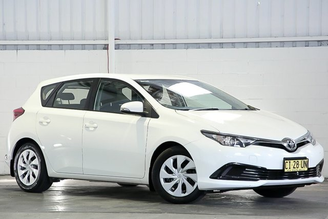 Used Toyota Corolla ZRE182R Ascent S-CVT West Gosford, 2016 Toyota Corolla ZRE182R Ascent S-CVT White 7 Speed Constant Variable Hatchback