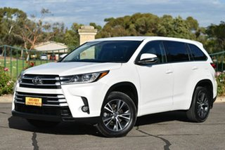 2017 Toyota Kluger GSU55R GX AWD White 8 Speed Sports Automatic Wagon.