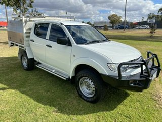 2013 Mitsubishi Triton MN MY14 GLX 4x2 White 4 Speed Sports Automatic Cab Chassis