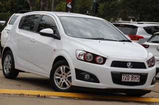 2012 Holden Barina TM MY13 CD White 6 Speed Automatic Hatchback.