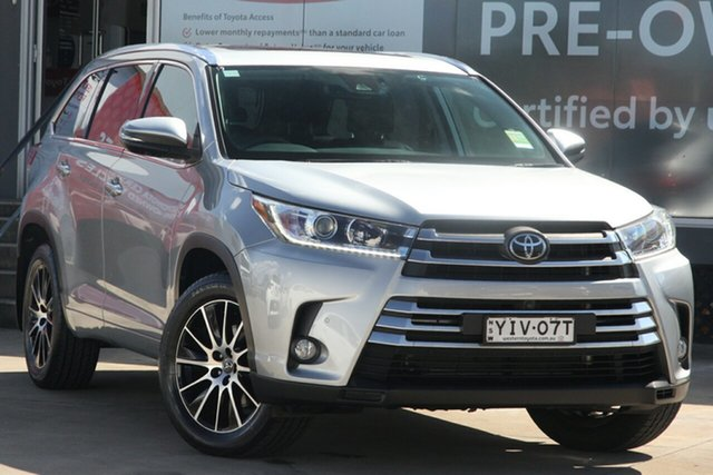 Pre-Owned Toyota Kluger GSU55R Grande AWD Guildford, 2018 Toyota Kluger GSU55R Grande AWD Silver 8 Speed Sports Automatic Wagon