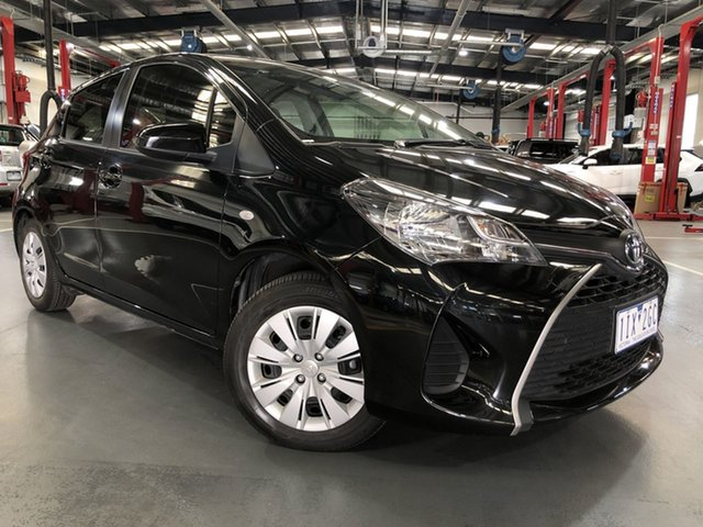 Pre-Owned Toyota Yaris NCP130R Ascent Oakleigh, 2016 Toyota Yaris NCP130R Ascent Black 4 Speed Automatic Hatchback