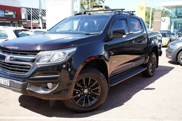 Used Holden Colorado RG MY18 Z71 (4x4) Brookvale, 2017 Holden Colorado RG MY18 Z71 (4x4) Black 6 Speed Automatic Crew Cab Pickup