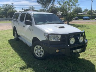 2010 Toyota Hilux KUN26R MY10 SR White 4 Speed Automatic Utility.