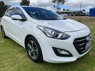 2015 Hyundai i30 GD3 Series II MY16 Active X Polar White 6 Speed Sports Automatic Hatchback.
