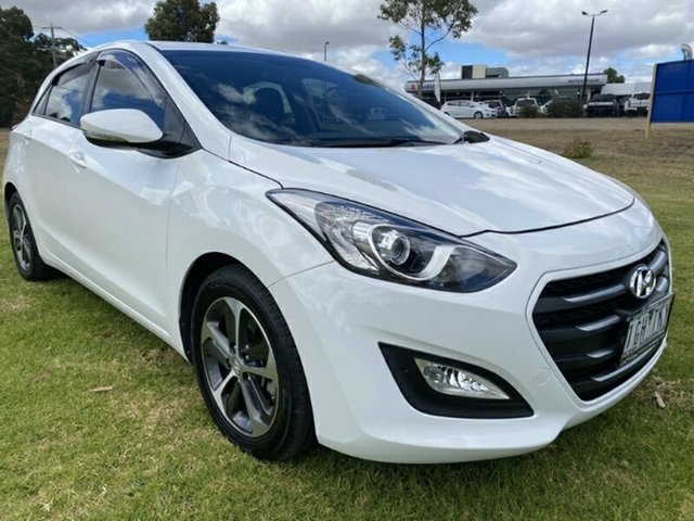 Used Hyundai i30 GD3 Series II MY16 Active X Melton, 2015 Hyundai i30 GD3 Series II MY16 Active X Polar White 6 Speed Sports Automatic Hatchback