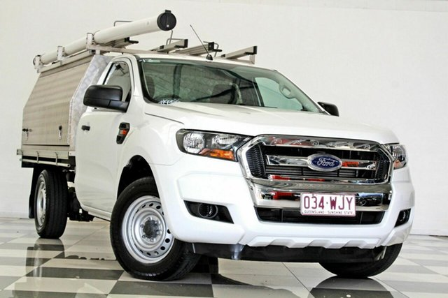 Used Ford Ranger PX MkII XL 2.2 (4x2) Burleigh Heads, 2015 Ford Ranger PX MkII XL 2.2 (4x2) White 6 Speed Manual Cab Chassis