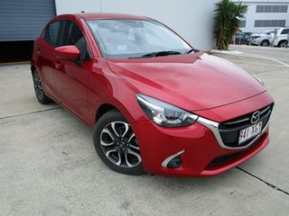 2017 Mazda 2 DJ2HAA Genki SKYACTIV-Drive Red 6 Speed Sports Automatic Hatchback.