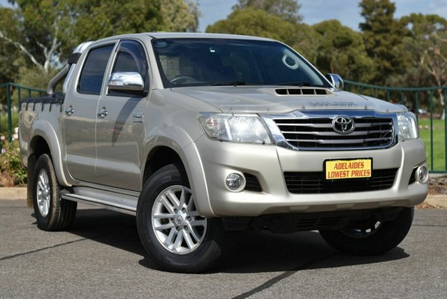 Used Toyota Hilux KUN26R MY12 SR5 Double Cab Enfield, 2013 Toyota Hilux KUN26R MY12 SR5 Double Cab Gold 5 Speed Manual Utility