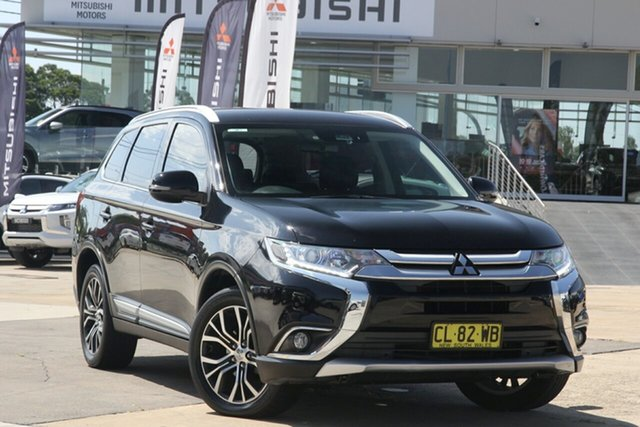 Used Mitsubishi Outlander ZK MY17 LS Safety Pack (4x4) 7 Seats Chullora, 2016 Mitsubishi Outlander ZK MY17 LS Safety Pack (4x4) 7 Seats Black 6 Speed Automatic Wagon