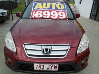 2005 Honda CR-V RD MY2005 Sport 4WD Maroon 5 Speed Automatic Wagon.