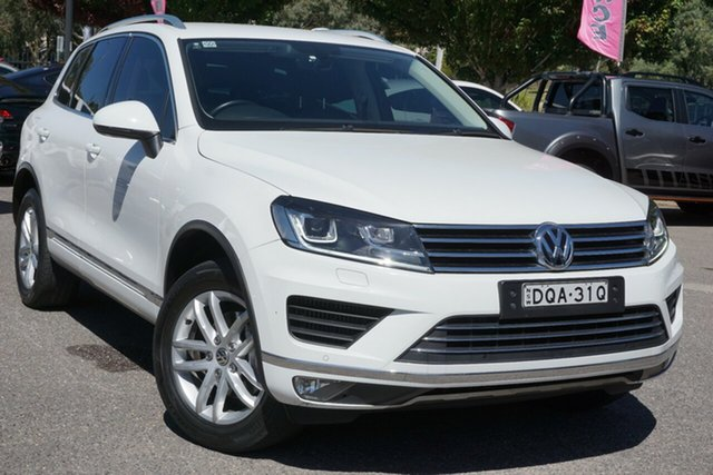 Used Volkswagen Touareg 7P MY17 150TDI Tiptronic 4MOTION Element Phillip, 2017 Volkswagen Touareg 7P MY17 150TDI Tiptronic 4MOTION Element White 8 Speed Sports Automatic