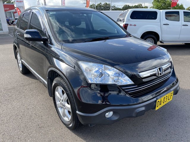 Pre-Owned Honda CR-V RE MY2007 Luxury 4WD Cardiff, 2007 Honda CR-V RE MY2007 Luxury 4WD Black 5 Speed Automatic Wagon