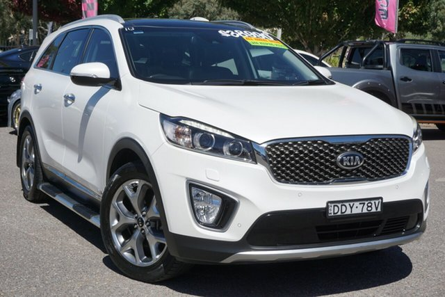 Used Kia Sorento UM MY16 Platinum AWD Phillip, 2016 Kia Sorento UM MY16 Platinum AWD White 6 Speed Sports Automatic Wagon