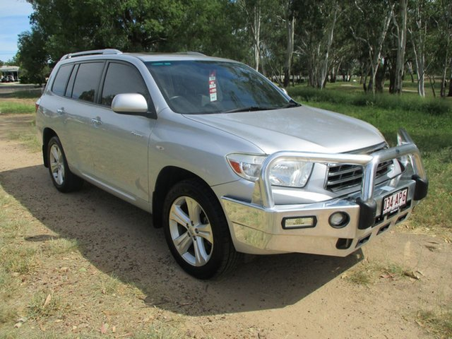 Pre-Owned Toyota Kluger GSU40R Grande (FWD) Roma, 2007 Toyota Kluger GSU40R Grande (FWD) Silver Pearl 5 Speed Automatic Wagon