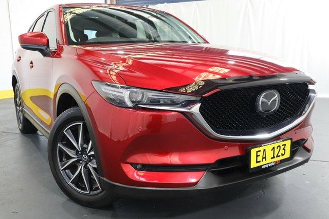 Used Mazda CX-5 KF4WLA Akera SKYACTIV-Drive i-ACTIV AWD Castle Hill, 2018 Mazda CX-5 KF4WLA Akera SKYACTIV-Drive i-ACTIV AWD Red/Black 6 Speed Sports Automatic Wagon