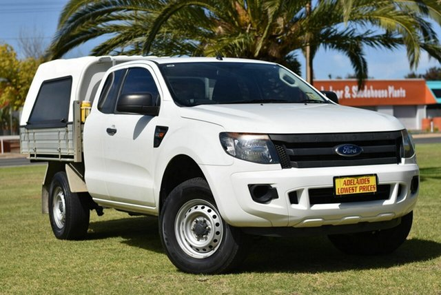 Used Ford Ranger PX XL Hi-Rider Cheltenham, 2014 Ford Ranger PX XL Hi-Rider White 6 Speed Sports Automatic Cab Chassis