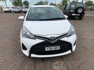 2015 Toyota Yaris YR White 4 Speed Auto Active Select Hatchback.