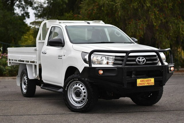 Used Toyota Hilux GUN126R SR Enfield, 2016 Toyota Hilux GUN126R SR White 6 Speed Manual Cab Chassis