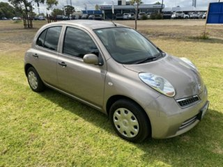2010 Nissan Micra K13 ST Silver 4 Speed Automatic Hatchback.
