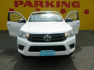 2016 Toyota Hilux GUN126R SR Extra Cab White 6 Speed Manual Utility.