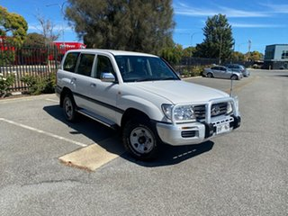 2005 Toyota Landcruiser HDJ100R GXL White 5 Speed Automatic Wagon