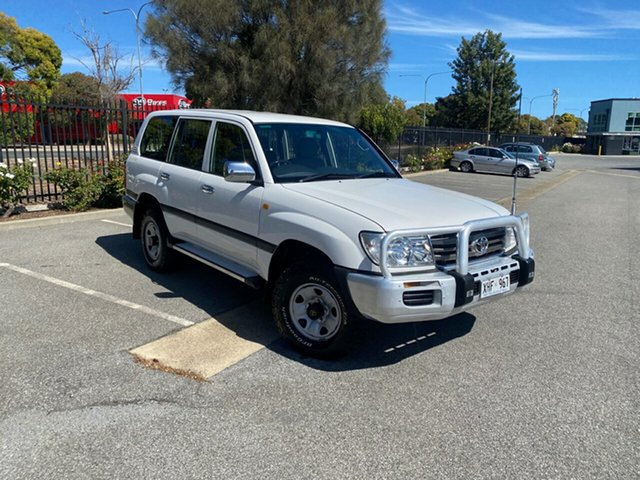 Used Toyota Landcruiser HDJ100R GXL Mile End, 2005 Toyota Landcruiser HDJ100R GXL White 5 Speed Automatic Wagon