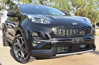 2020 Kia Sportage QL MY21 GT-Line AWD Black Cherry 8 Speed Sports Automatic Wagon.