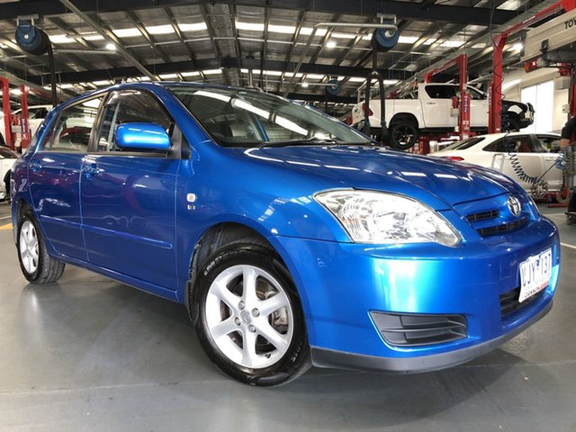 Pre-Owned Toyota Corolla ZZE122R 5Y Ascent Sport Oakleigh, 2006 Toyota Corolla ZZE122R 5Y Ascent Sport Blue 4 Speed Automatic Hatchback