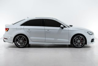 2016 Audi S3 8V MY16 S Tronic Quattro White 6 Speed Sports Automatic Dual Clutch Sedan