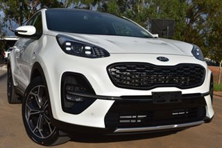 2020 Kia Sportage QL MY21 GT-Line AWD Snow White Pearl 8 Speed Sports Automatic Wagon.