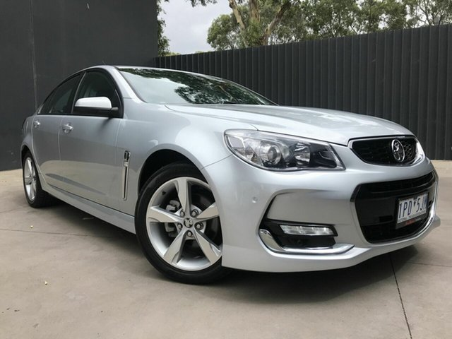 Used Holden Commodore VF II SV6 Fawkner, 2016 Holden Commodore VF II SV6 Silver 6 Speed Automatic Sedan