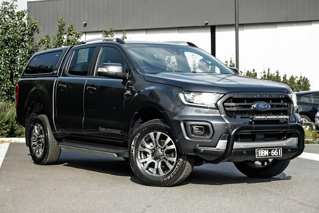 Used Ford Ranger PX MkIII 2019.75MY Wildtrak Essendon Fields, 2019 Ford Ranger PX MkIII 2019.75MY Wildtrak Grey 6 Speed Sports Automatic Double Cab Pick Up