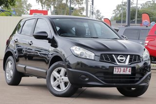 2013 Nissan Dualis J10W Series 4 MY13 ST Hatch 2WD Black 6 Speed Manual Hatchback.