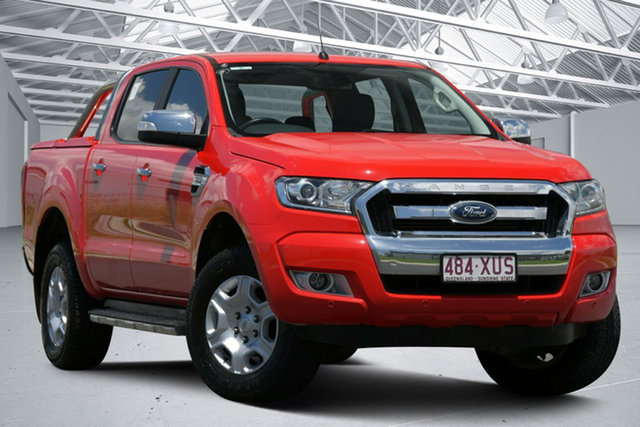 Used Ford Ranger PX MkII MY17 XLT 3.2 Hi-Rider (4x2) Eagle Farm, 2017 Ford Ranger PX MkII MY17 XLT 3.2 Hi-Rider (4x2) Red 6 Speed Automatic Crew Cab Pickup