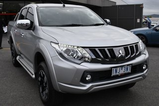 2018 Mitsubishi Triton MQ MY18 Exceed Double Cab Billet Silver 5 Speed Sports Automatic Utility.