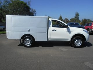 2015 Mitsubishi Triton MQ MY16 GLX White 6 Speed Manual Cab Chassis