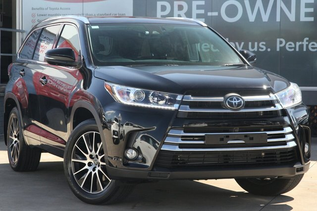 Pre-Owned Toyota Kluger GSU55R Grande AWD Guildford, 2019 Toyota Kluger GSU55R Grande AWD Eclipse Black 8 Speed Automatic Wagon